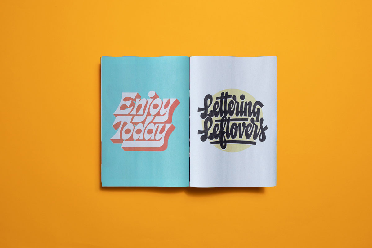 Typography and lettering portfolio by Thom Niessink. Printed as a mini newspaper by Newspaper Club.