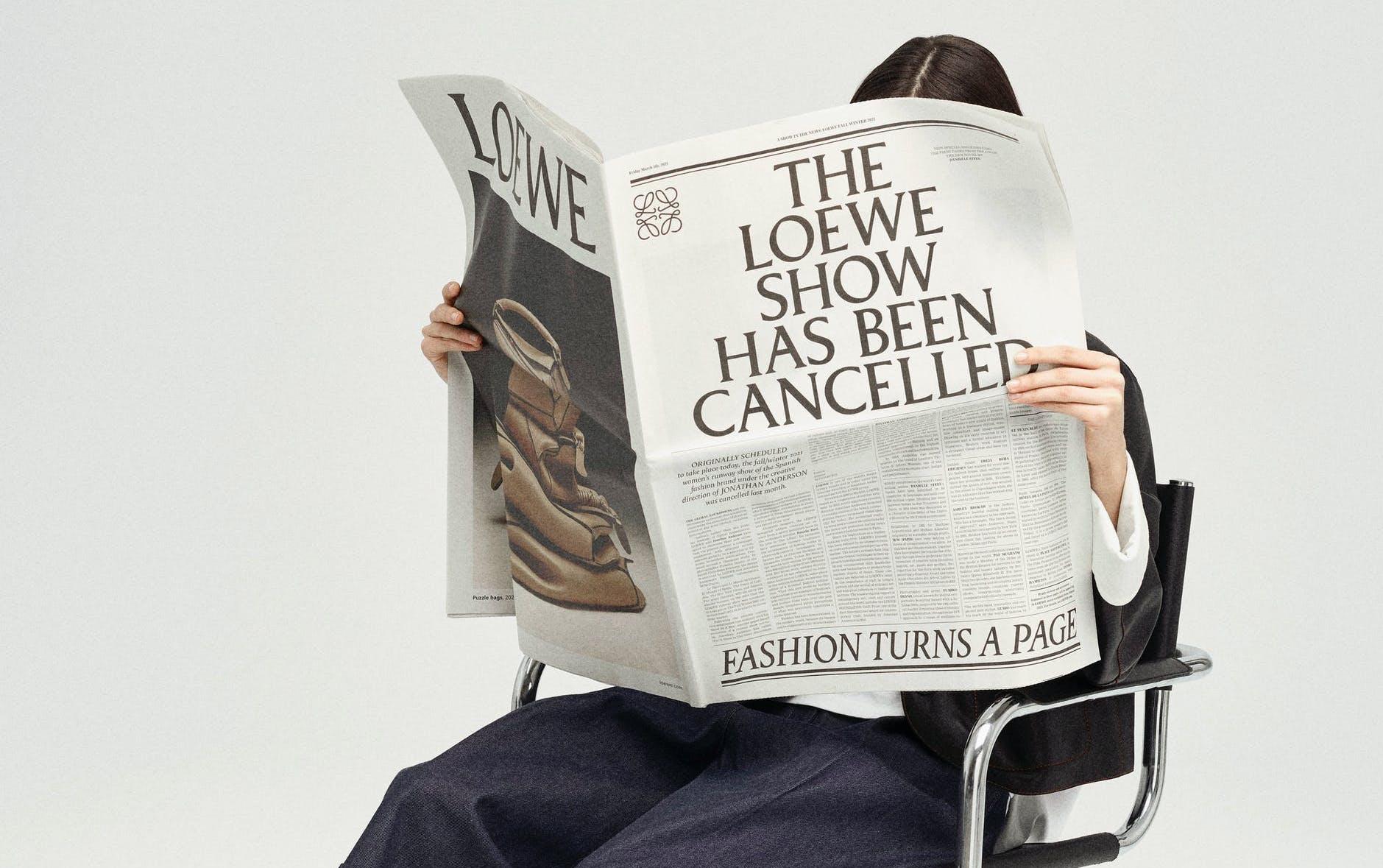 loewe fashion newspaper