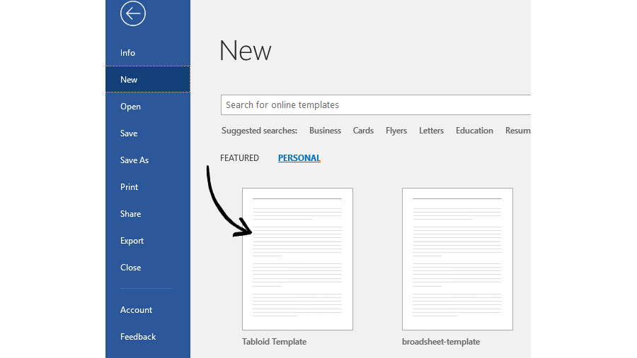 Step-by-step guide to setting up a newspaper template in Word for PC