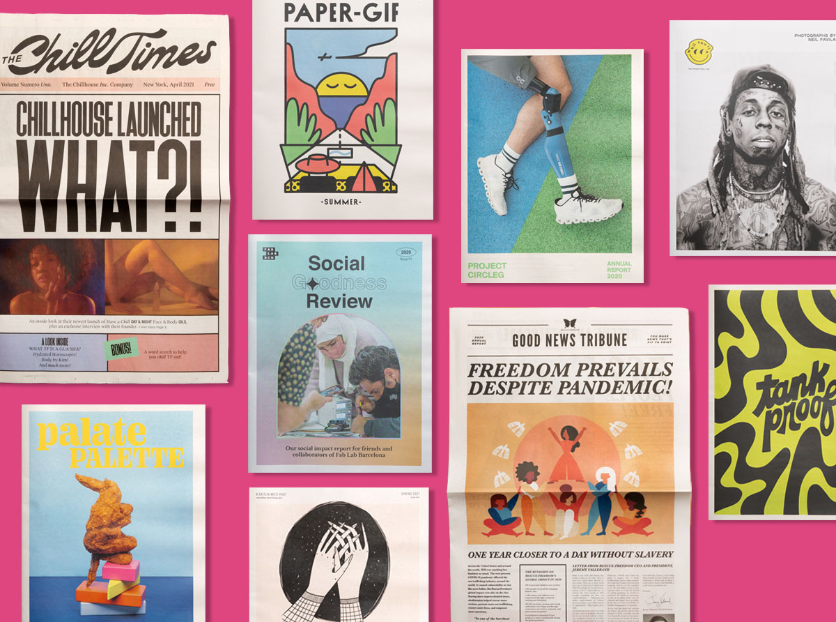 Print Roundup: May 2021. Portoflios, catalogues and more inspiring print projects printed by Newspaper Club.