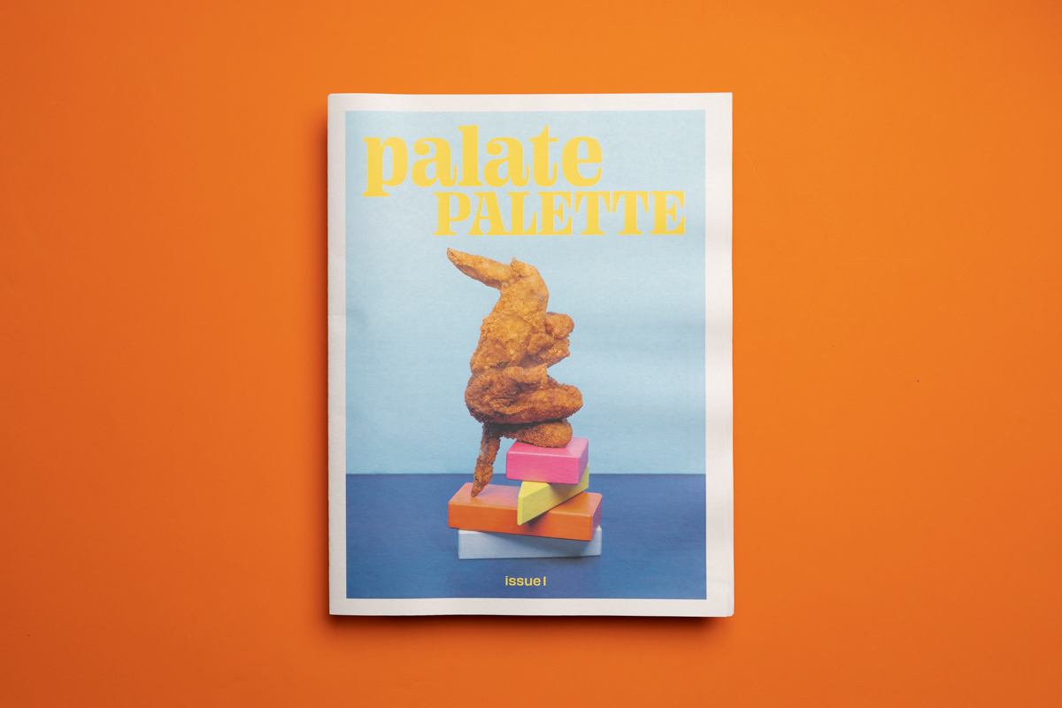 PalatePalette food zine by artist Krystal Mack. Published by Homie House Press and printed on Newspaper Club's tabloid newspapers.