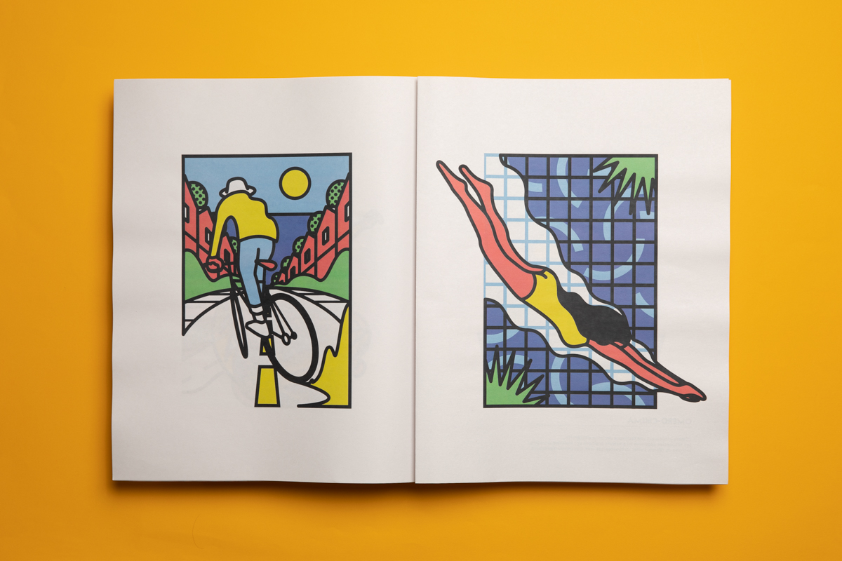 Paper GIF animated newspaper by illustrator Maxime Charasson. Printed by Newspaper Club.