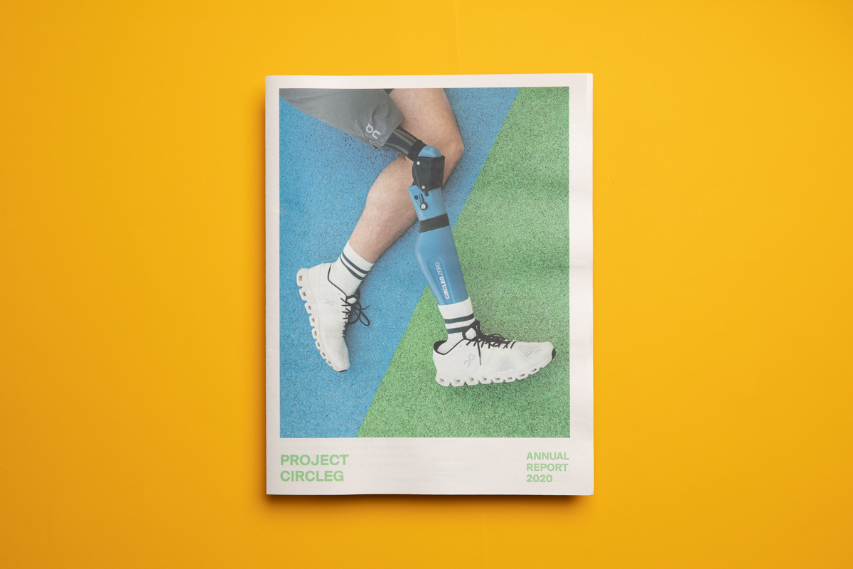 Project Circleleg annual report printed by Newspaper Club.
