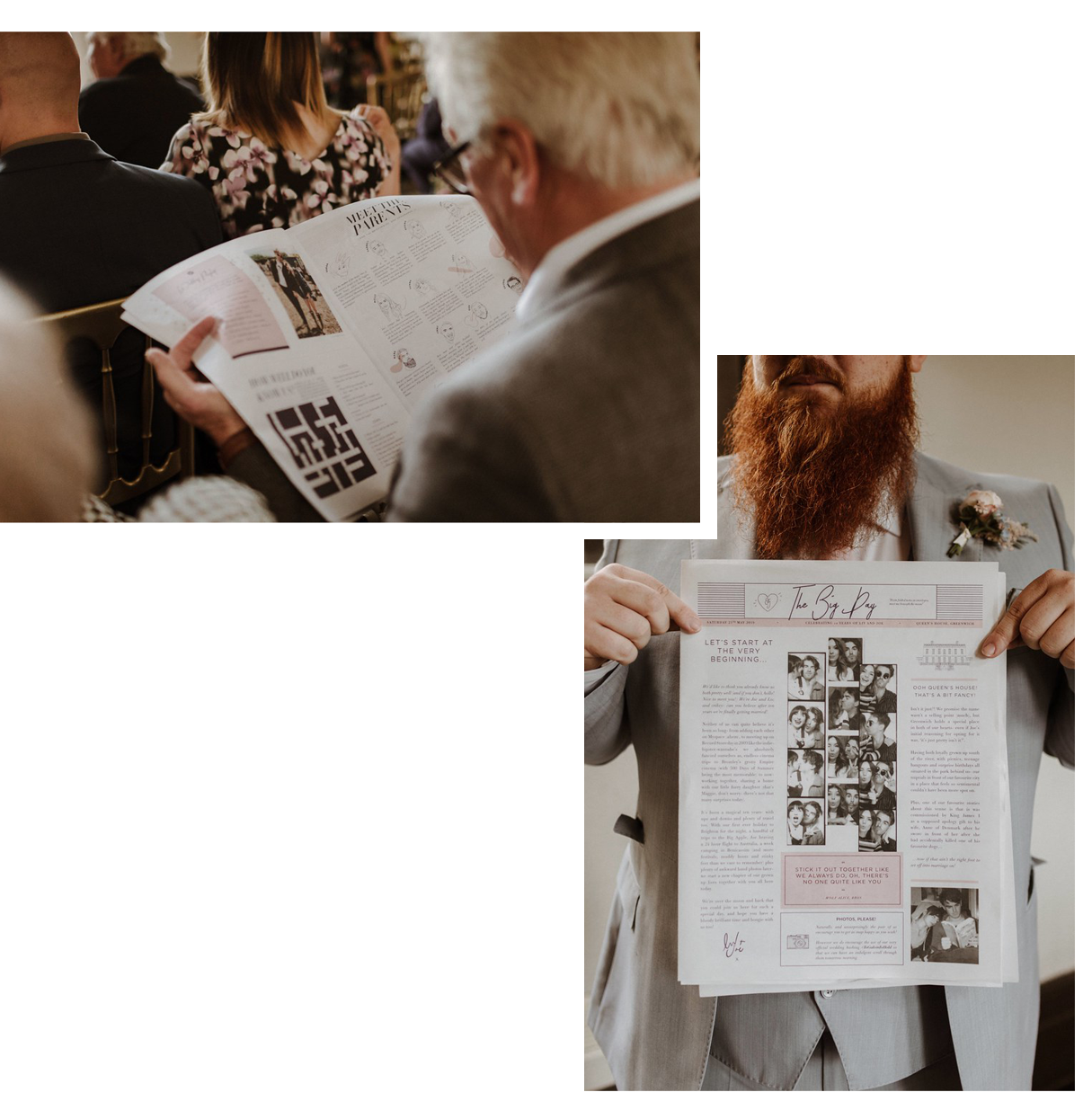 Liv Purvis order of service newspaper printed by Newspaper Club