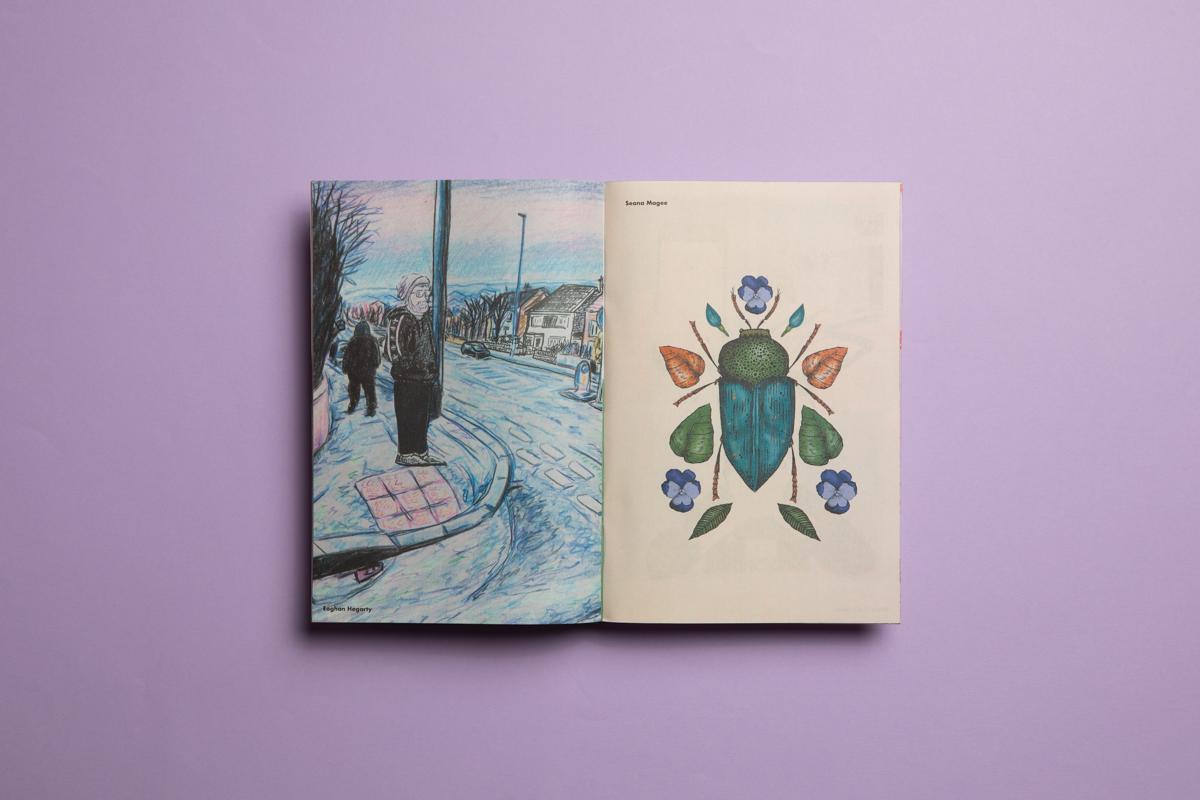 Belfast School of Art — Illustration degree show catalogue. Printed on mini zines by Newspaper Club.