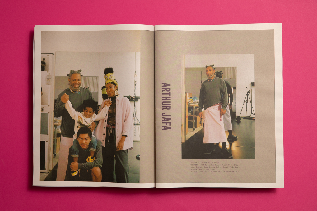 Bephies Beauty Supply lookbook featuring photography by Clifford Prince King. Printed by Newspaper Club.