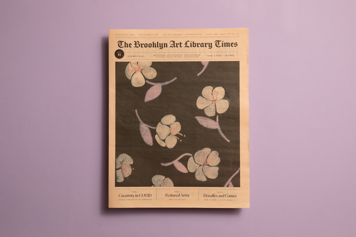 Newspaper for Brooklyn Art Library's Sketchbook Project, printed by Newspaper Club.