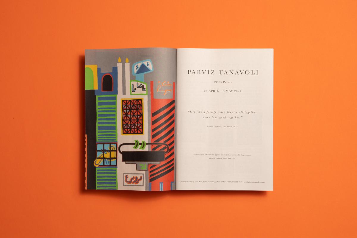 Grosvenor Gallery catalogue for Parviz Tanavoli exhibition. Printed by Newspaper Club.