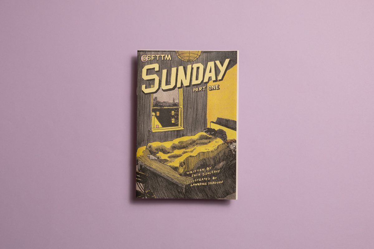 Sunday comic written by Jack Dunleavy and illustrated by Lawrence Dodgson. Printed by Newspaper Club.