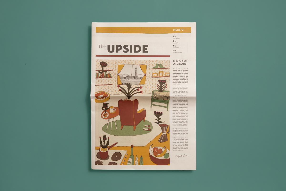 The Upside broadsheet newspaper