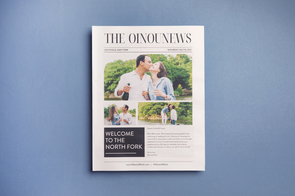 The ultimate guide to making a wedding newspaper