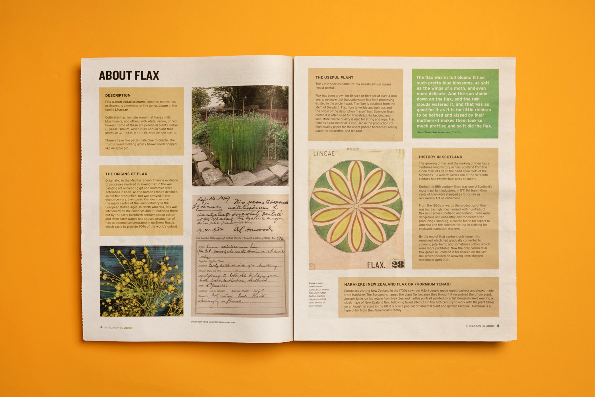 8 print projects to inspire you in September 2021: Field Notes newspaper for Royal Botanic Garden Edinburgh. Printed by Newspaper Club.