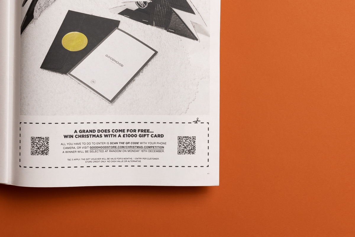 5 ways to stand out (and boost sales) with a festive newspaper. Goodhood holiday catalogue printed by Newspaper Club.