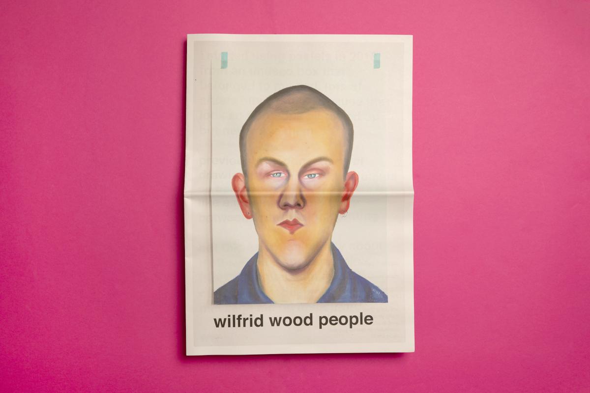 Wilfrid Wood People exhibition newspaper. Printed by Newspaper Club.